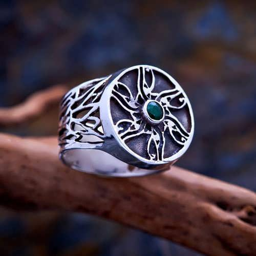 Eye of Horus Ring Silver