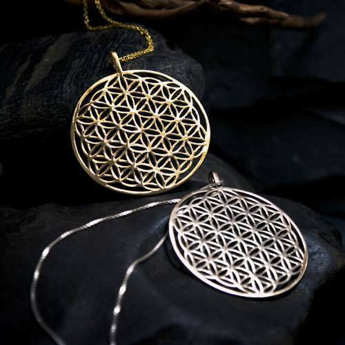 Flower of Life Pendant - Gold