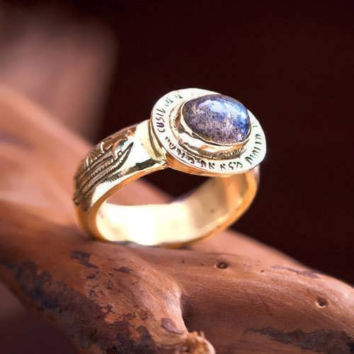 Four Winds Ring Gold with Labradorite