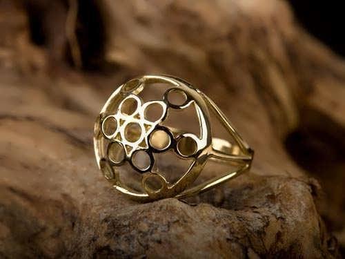 טבעת פרי החיים זהב