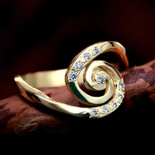 Galaxie Ring Gold mit Diamanten
