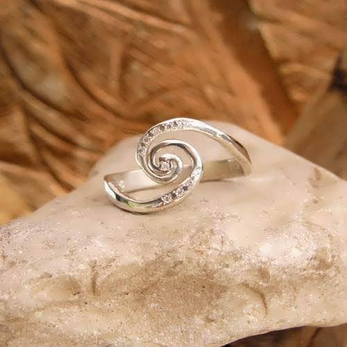 """Кольцо """"Галактика""""с цирконием, серебро"""