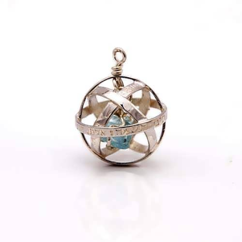 Genesa crystal silver with Turquoise