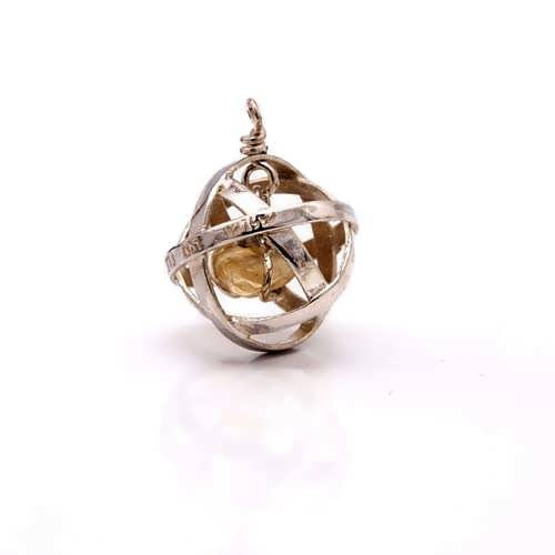 Genesa crystal silver with Citrine