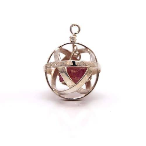 Genesa crystal silver with Ruby