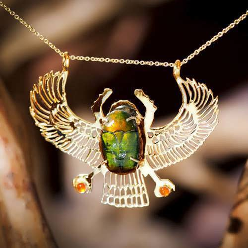 Genuine Egyptian Scarab gold