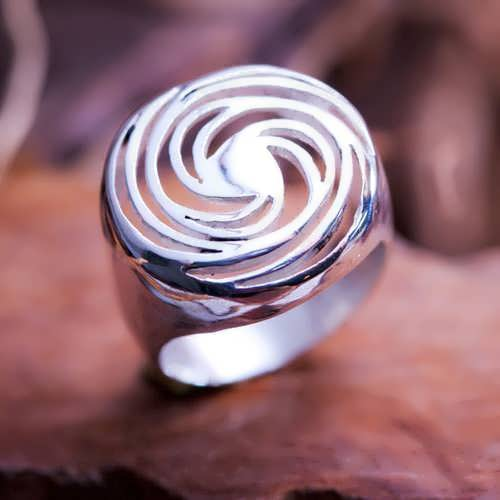 Golden Spiral Silver Ring