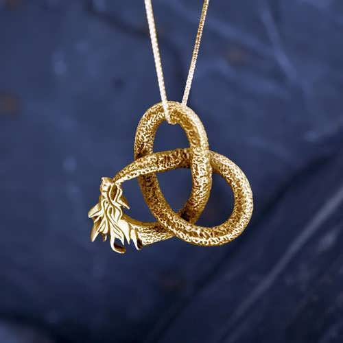 Dragon Pendant Big Gold