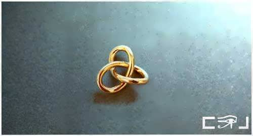 Gordian Knot Pendant Gold Small