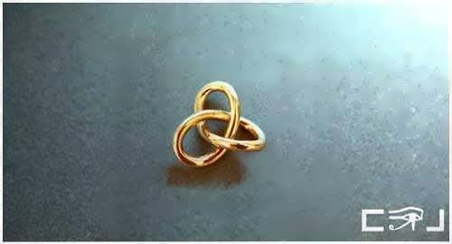 Gordischer Knoten Klein, Gold