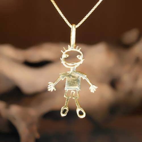 happiness pendant gold