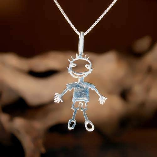 happiness pendant silver