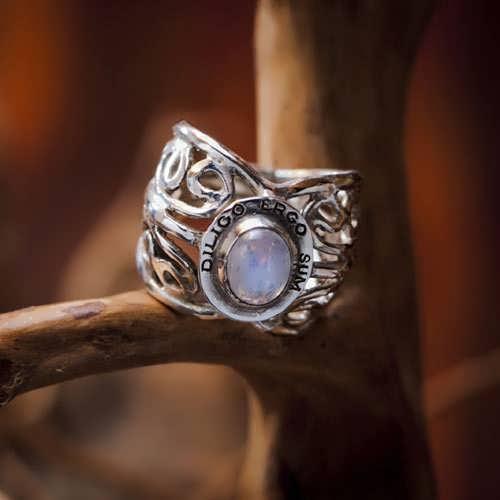 Кольцо «Я люблю, следовательно, существую», серебро