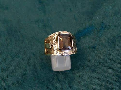 Journey of life ring gold with Smoky Quartz
