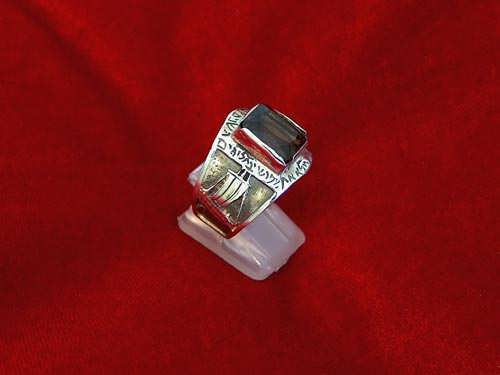 Journey of life ring silver with Smoky Quartz