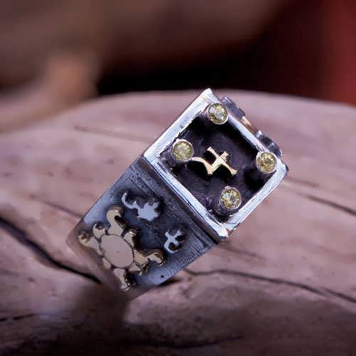 Jupiter Talisman Ring Silver And Gold (*Limited Edition*)