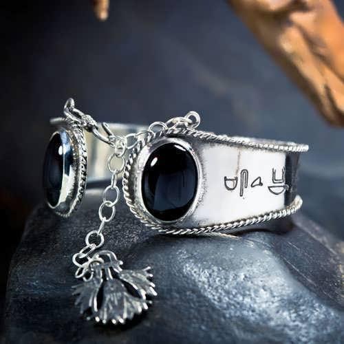 Ka Bracelet Silver with Onyx