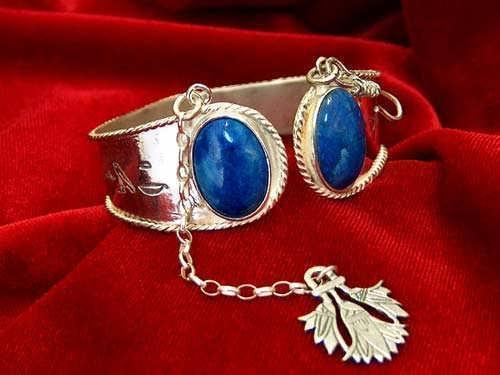 Ka Bracelet silver with Lapis