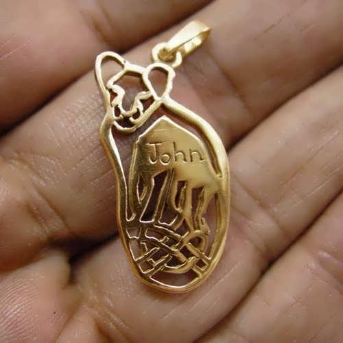 תליון גורי אריות זהב