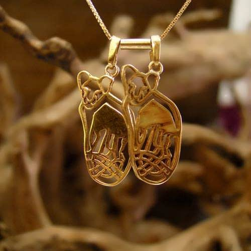Lion Cubs for Mother's Pendant Gold