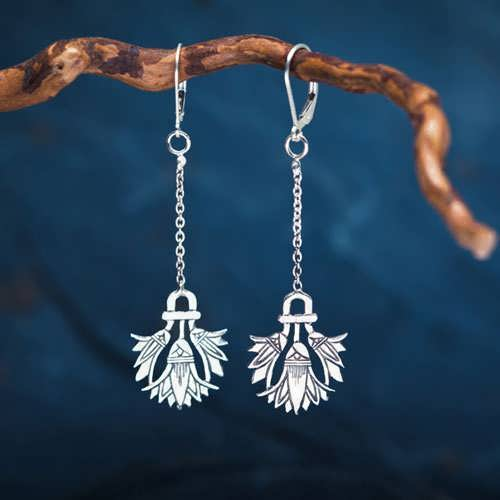 Lotus Earrings Silver