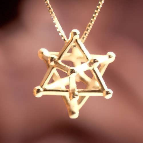 Merkaba 14 Points Gold Medium