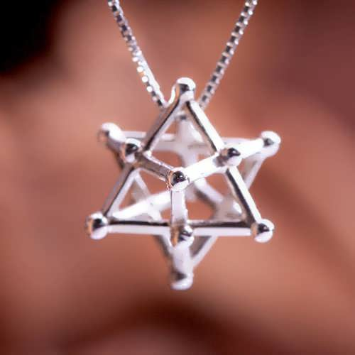 Merkaba 14 Points Silver Medium