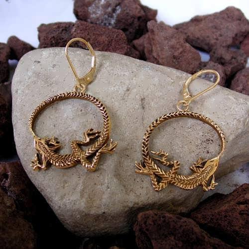 Серьги «Уроборос», золото