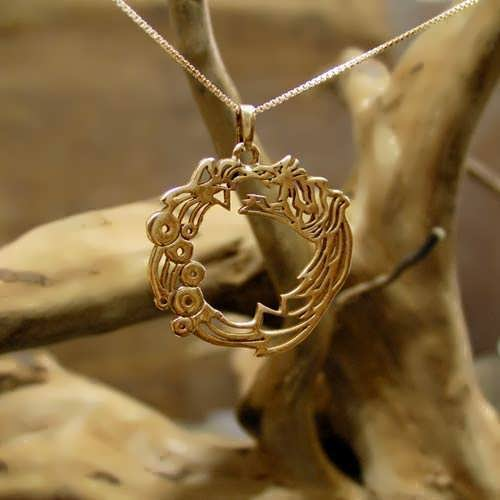 Ouroboros Pendant Gold