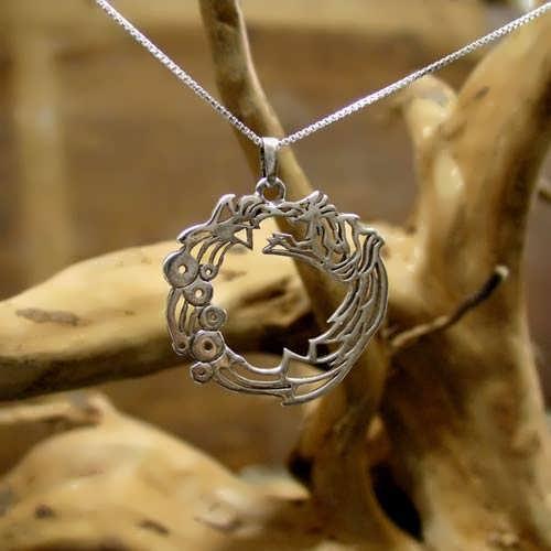 Ouroboros Pendant Silver