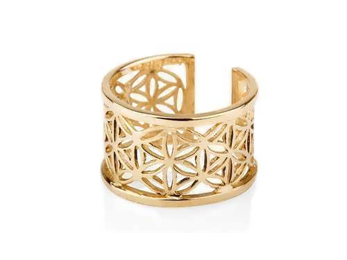 Pattern of Life Ring Big Gold