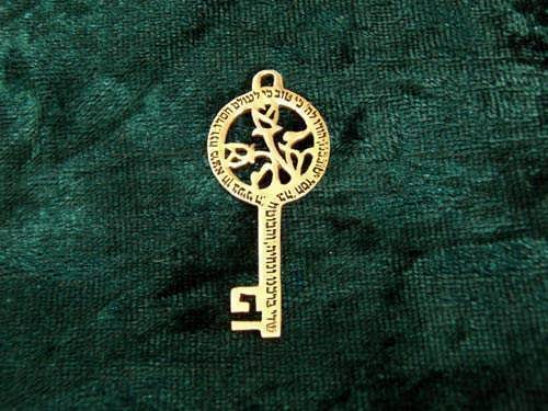 Peace Angel Key Gold