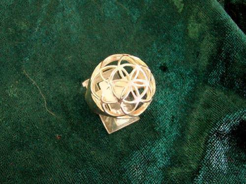 Seed of Life Ring Gold