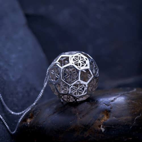 Sphere of Consciousness Silver Pendant