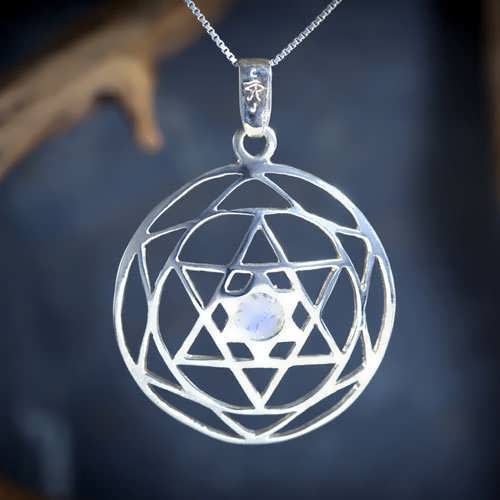 Star of David Mandala Silver