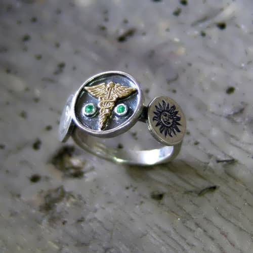 Alchemical Wedding Talisman Ring Silver and Gold (*Limited Edition*)