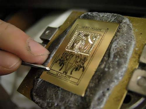 Tarot Chariot Card Pendant Silver
