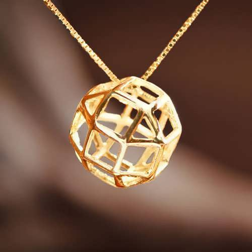 The Divine Reflection Gold Pendant