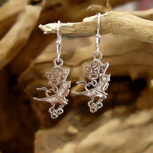 The Air Element Earrings Silver with Cubic Zirconia