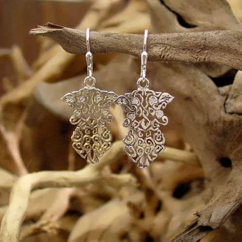 The Earth Element Earrings Silver with Cubic Zirconia