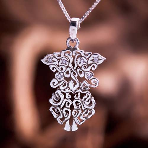 Earth Element Pendant Silver Small