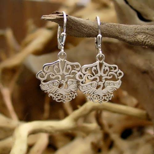The Fire Element Earrings Silver with Cubic Zirconia