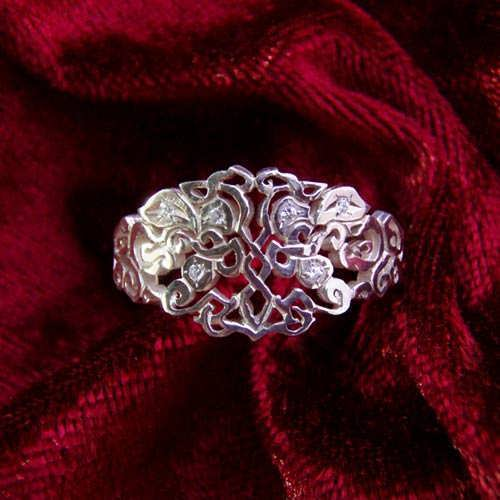 Earth Element Ring with six Zircons
