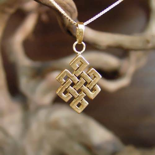 Tibetan knot Pendant Gold