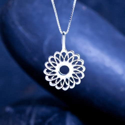 Кулон «Трубка тора», серебро
