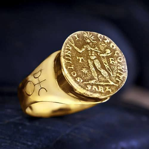 Uranus in Aries Talisman Ring Gold (*Sold Out!*)