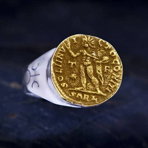 Uranus in Aries Talisman Ring Silver and Gold (*Sold Out!*)