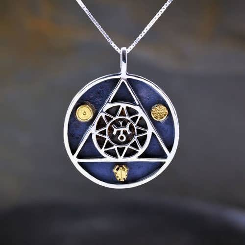Uranus in Aries Talisman Silver and Gold (*Sold Out!*)