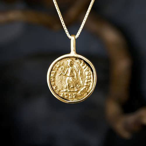 Colgante de oro Victoria