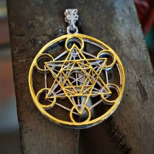 Cubo di Metatron - 24K oro and Silver